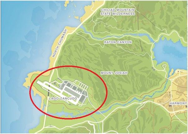 Где находится военная база gta 5