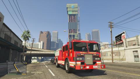 пожарная машина из gta 5