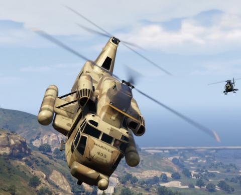 Грузовой вертолет Cargobob в GTA 5